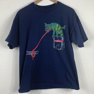 Vintage Budweiser Lizards Graphic T Shirt 1997